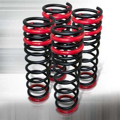 Suspension - Lowering Springs - Spec-D - Honda Civic Spec-D Lowering Springs: - Black - CL-CV92BK-SD