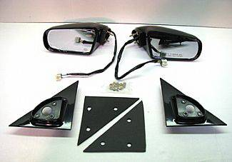 S10 - Mirrors - Street Scene - Chevrolet S10 Street Scene Cal Vu Electric Mirrors with White Plug End - 950-11240