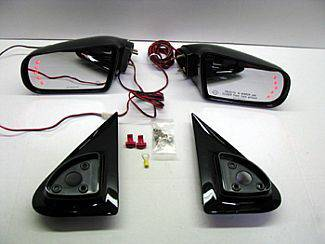 Escalade - Mirrors - Street Scene - Cadillac Escalade Street Scene Cal Vu Manual Mirrors with Rear Signal Mirror Kit - 950-15910