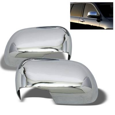 Durango - Mirrors - Spyder Auto - Dodge Durango Spyder Mirror Cover - Chrome - CA-MC-DD04