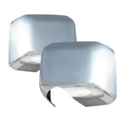 Wrangler - Mirrors - Spyder - Jeep Wrangler Spyder Chrome Mirror Cover - 4PC - CA-MC-JW07
