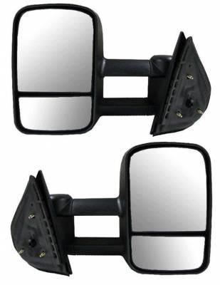 Suvneer - GMC Sierra Suvneer Standard Extended Power & Heated Towing Mirrors with Split Glass - Left & Right Side - CVE6-9410-E0