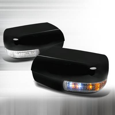 S Class - Mirrors - Spec-D - Mercedes-Benz S Class Spec-D LED Mirror Cover - Black - RMC-BW14095BK