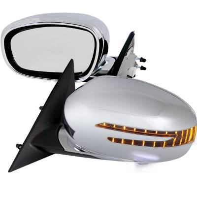300 - Mirrors - Spec-D - Chrysler 300 Spec-D Power Fold Mirror - RMU-30005CR-P