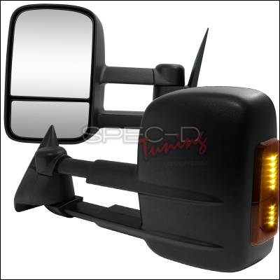 C/K Truck - Mirrors - Spec-D - Chevrolet C10 Spec-D Towing Mirrors - Manual with LED Signal - RMX-C1088LED-M-FS