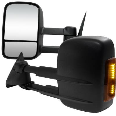 C1500 - Mirrors - Spec-D - Chevrolet C10 Spec-D Towing Mirrors - Power with LED Signal - RMX-C1088LED-P-FS