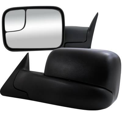 Ram - Mirrors - Spec-D - Dodge Ram Spec-D Towing Mirrors - Power - RMX-RAM02H-P-FS