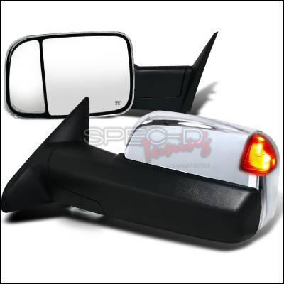 Ram - Mirrors - Spec-D - Dodge Ram Spec-D Heated Towing Mirrors - Power with Memory - RMX-RAM1225MCRH-P-FS