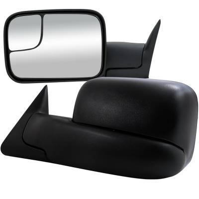 Ram - Mirrors - Spec-D - Dodge Ram Spec-D Towing Mirrors - Power - RMX-RAM94-P-FS