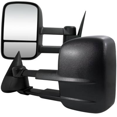 Silverado - Mirrors - Spec-D - Chevrolet Silverado Spec-D Towing Mirrors - Power - RMX-SIV03H-P-FS