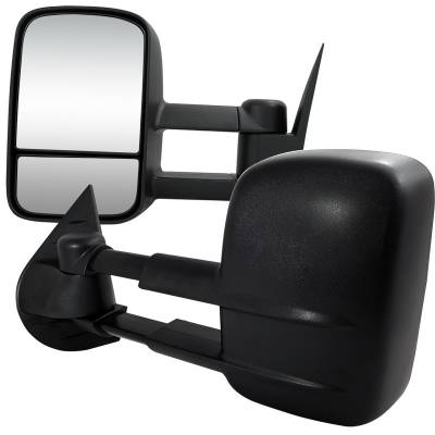 Silverado - Mirrors - Spec-D - Chevrolet Silverado Spec-D Towing Mirrors - Manual - RMX-SIV07-M-FS