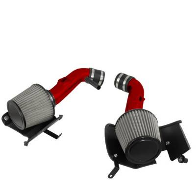 Air Intakes - OEM - Spyder - Nissan 350Z Spyder Cold Air Intake with Filter - Red - CP-677R