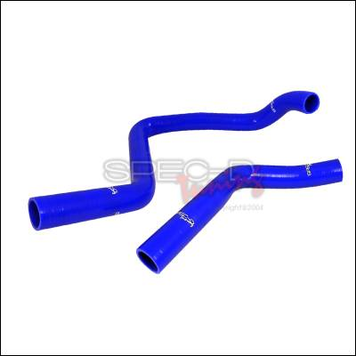 Performance Parts - Performance Accessories - Spec-D - Honda CRX Spec-D Engine Silicone Radiator Hose - Blue - RAH-S01-1304-LX