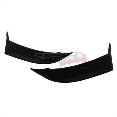 WRX - Rear Add On - Spec-D - Subaru WRX Spec-D Sti Style Rear Lip - Polyurethane - LBR-WRX04STI-PU