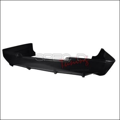 Lancer - Rear Add On - Spec-D - Mitsubishi Lancer Spec-D Sport Style Rear Lip - Polyurethane - LPR-LAN08SP-PU
