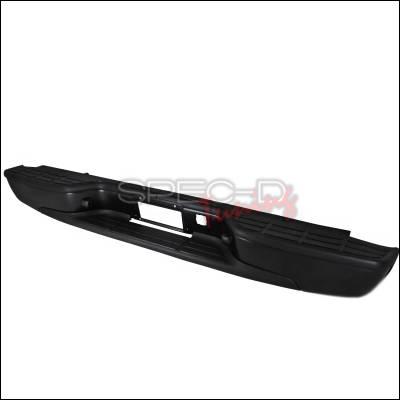Silverado - Rear Add On - Spec-D - Chevrolet Silverado Spec-D Rear Bumper Step - Black - SRB-SIV99BK-FS