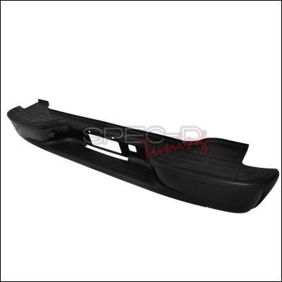 Suburban - Rear Add On - Spec-D - Chevrolet Suburban Spec-D Rear Bumper Step - Black - SRB-SUB00BK-FS