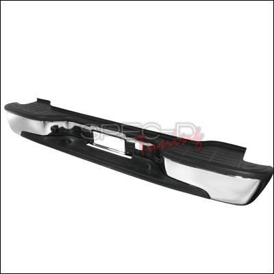 Suburban - Rear Add On - Spec-D - Chevrolet Suburban Spec-D Rear Bumper Step - Chrome - SRB-SUB00CR-FS