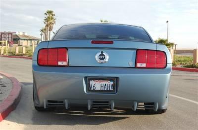 Mustang - Rear Bumper - TruFiber - Ford Mustang TruFiber T-1 CXT Rear Bumper TF10024-CXS1