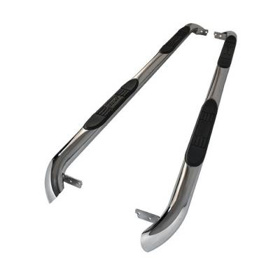 Suv Truck Accessories - Running Boards - Spyder - Mercedes-Benz ML Spyder 3 Inch Round Side Step Bar T-304 Stainless SteelPolished - SSB-MML-A07S1501