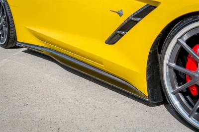 Corvette - Side Skirts - TruFiber - Chevy Corvette TruFiber LG214 Side Splitters TF30221-LG214