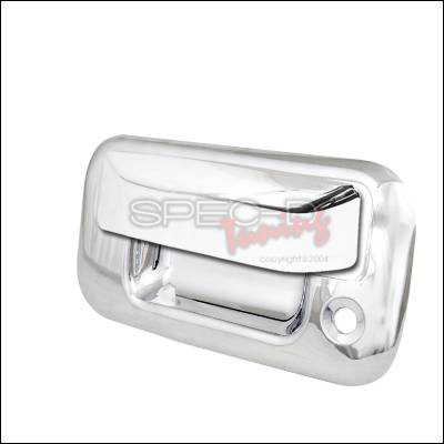 Suv Truck Accessories - Tail Gate Lock - Spec-D - Ford Superduty Spec-D Tailgate Handle without Rear View Camera - Chrome - DRH-F15004RBC