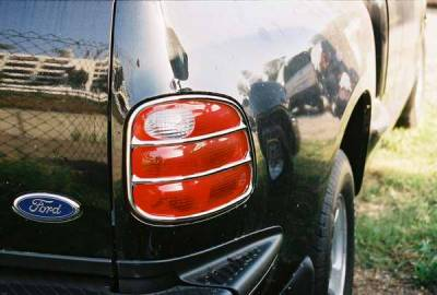 TFP - TFP Chrome ABS Taillight Insert Accent - D Style - 322D