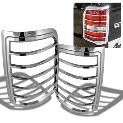 Headlights & Tail Lights - Tail Light Covers - Spyder Auto - Ford F150 Spyder ABS Taillight Bezel - Chrome - CA-TB-FF15004