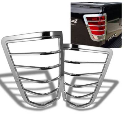 Headlights & Tail Lights - Tail Light Covers - Spyder Auto - Nissan Titan Spyder ABS Taillight Bezel - Chrome - CA-TB-NT04