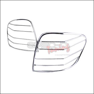 Headlights & Tail Lights - Tail Light Covers - Spec-D - Mercedes-Benz ML Spec-D Taillight Trim - Chrome - TLT-BW16406C