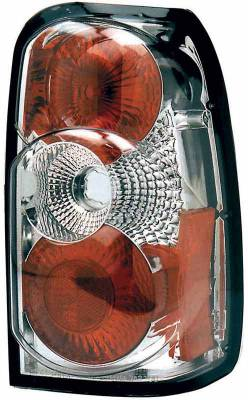Headlights & Tail Lights - Tail Lights - TYC - TYC Chrome Euro Taillights - 81553900