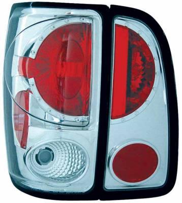 Headlights & Tail Lights - Tail Lights - TYC - TYC Chrome Euro Taillights - 81555102