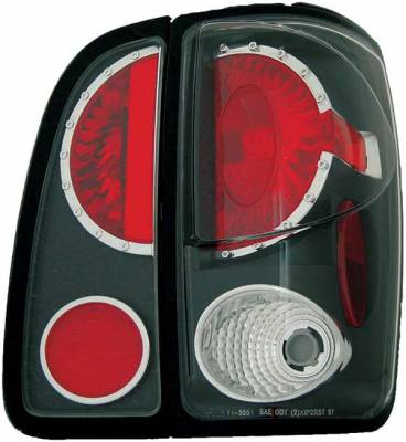 Headlights & Tail Lights - Tail Lights - TYC - TYC Euro Taillights with Black Housing - 81555142