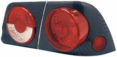 Headlights & Tail Lights - Tail Lights - TYC - TYC Euro Taillights with Carbon Fiber Housing and Paintable Bezel - 81557702