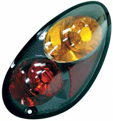 Headlights & Tail Lights - Tail Lights - TYC - TYC Euro Taillights with Carbon Fiber Housing - 81558931