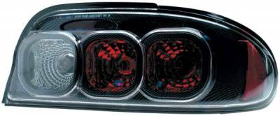 Headlights & Tail Lights - Tail Lights - TYC - TYC Euro Taillights with Carbon Fiber Housing - 81566130
