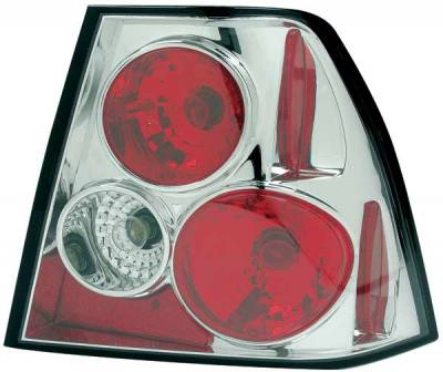 Headlights & Tail Lights - Tail Lights - TYC - TYC Chrome Euro Taillights - 81566300