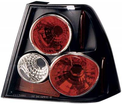 Headlights & Tail Lights - Tail Lights - TYC - TYC Euro Taillights with Black Housing - 81566340