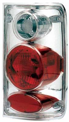 Headlights & Tail Lights - Tail Lights - TYC - TYC Chrome Euro Taillights - 81569900