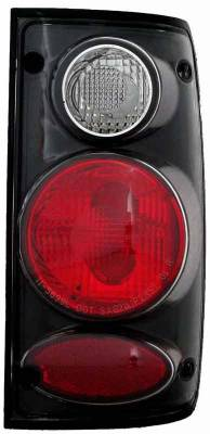 Headlights & Tail Lights - Tail Lights - TYC - TYC Euro Taillights with Black Housing - 81569940
