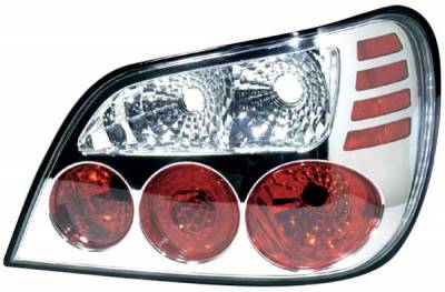 Headlights & Tail Lights - Tail Lights - TYC - TYC Chrome Euro Taillights - 81571101