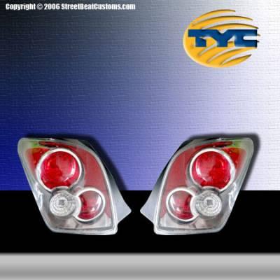 Headlights & Tail Lights - Tail Lights - TYC - TYC Chrome Euro Taillights - 81588300