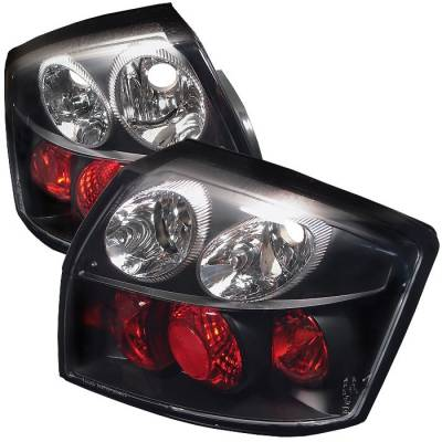 Headlights & Tail Lights - Tail Lights - Spyder - Audi A4 Spyder Euro Style Taillights - Black - 111-AA402-BK
