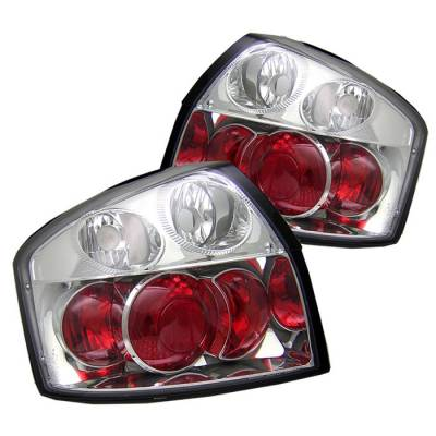 Headlights & Tail Lights - Tail Lights - Spyder. - Audi A4 Spyder Euro Style Taillights - Chrome - 111-AA402-C