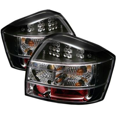 Headlights & Tail Lights - Tail Lights - Spyder - Audi A4 Spyder LED Taillights - Black - 111-AA402-LED-BK