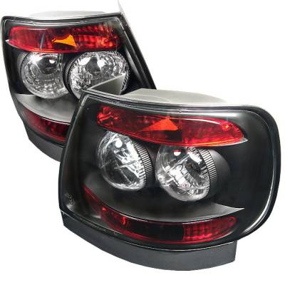 Headlights & Tail Lights - Tail Lights - Spyder - Audi A4 Spyder Euro Style Taillights - Black - 111-AA496-BK