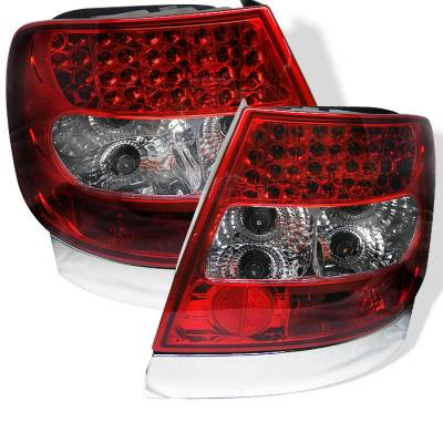 Headlights & Tail Lights - Tail Lights - Spyder - Audi A4 Spyder LED Taillights - Red Clear - 111-AA496-LED-RC