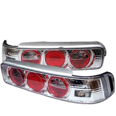 Headlights & Tail Lights - Tail Lights - Spyder - Acura Integra 2DR Spyder Euro Style Taillights - Chrome - 111-AI90-C