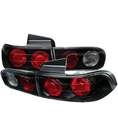Headlights & Tail Lights - Tail Lights - Spyder - Acura Integra 4DR Spyder Euro Style Taillights - Black - 111-AI94-4D-BK