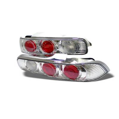 Headlights & Tail Lights - Tail Lights - Spyder - Acura Integra 2DR Spyder Euro Style Taillights - Chrome - 111-AI94-C